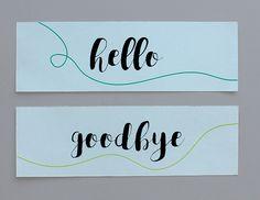 Paper Street Co. - Hello & Goodbye Bookmark / Kitap Ayracı   #kitapayracı #bookmark #paperstreet #papergoods