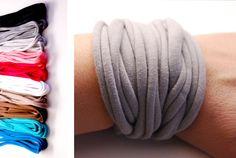 Endless Wrap Wrist Cuff Basic Stretch Wrist by stunninglooks, €4.75