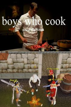 Boys who cook <3. Thanks to @Zawds on Twitter for this one!  #RuneScape