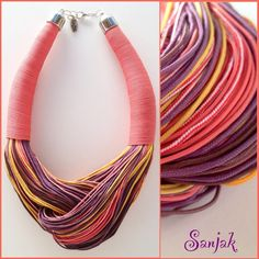 necklace made of fisherman ropes