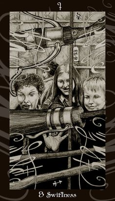 """(2008) 5 1/2"""" x 10 1/2"""" Pencil on Paper. Processed and framed in Photoshop. Sorry for the Tarot dump during my current submissions, but now that I'm done I just want to put the deck out there ..."""