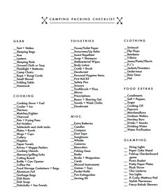 Camping Packing Checklist (Poppytalk For Target Launches Today)!