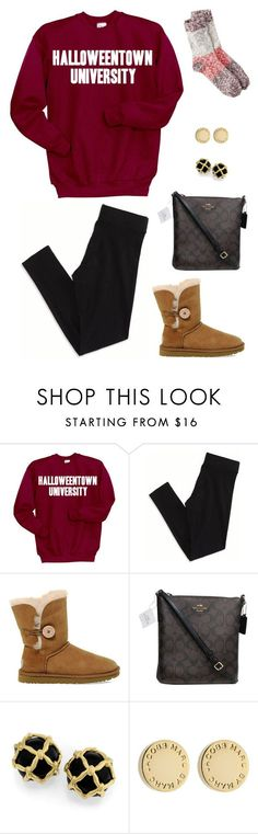 """""""Halloweentown University"""" by alliquick ❤ liked on Polyvore featuring Disney, American Eagle Outfitters, UGG Australia, Coach and Marc by Marc Jacobs"""