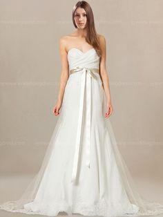 Elegant Beach Wedding Dress With Sweetheart Neckline Bc737