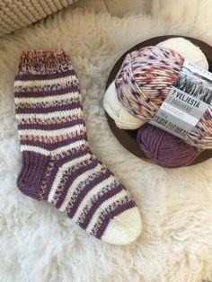 Novitaknits Raitasukat | Novita knits Sewing Crafts, Diy Crafts, Knitting Socks, Stuff To Do, Knit Crochet, Projects To Try, Fabrics, Dots, Breien