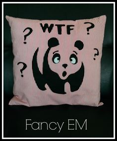 """another """"rude"""" cushion"""