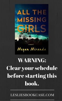"My review on ""All the Missing Girls"" - I could not put this down!! A great summer read!"