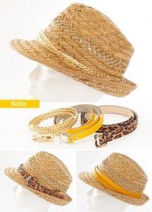 summer crafts fashionable ideas straw hat decorate belts