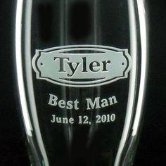 Set of 7 Best Man Gifts / Groomsmen Gifts  by distinctglass, $140.00