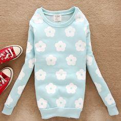 Cute Daisy Warm Fleece Sweatshirt Sweater