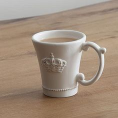 Crown Embossed Ceramic Mug by The Orchard