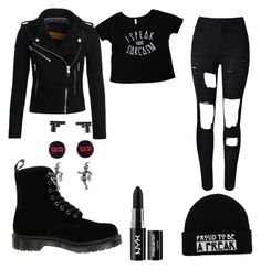"""""""Just cause"""" by psycoticecho ❤ liked on Polyvore featuring Superdry, Dr. Martens and NYX"""