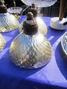 Vintage light shades - lovely