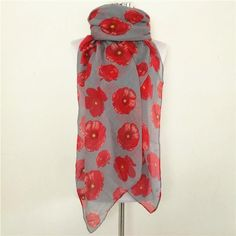 Large Floral Print Infinity Scarf/Looped Shawl