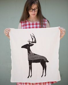 """Let your friends & family know that you love """"Deerly"""" with a Gingiber tea towel this Christmas. What's your favorite Gingiber towel design? #zestforyournest #Gingiber by gingiber"""