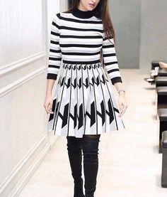 fefcb17c16 Karen Millen High Neck Geometric Knitted Warm Jumper Party Dress 8 to 14   KarenMillen