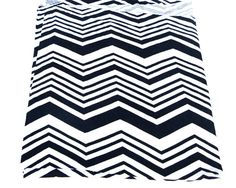 Black and Off White Chevron Printed Knit Jersey by felinusfabrics