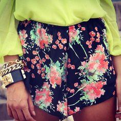 Cherry blossom #printed shorts