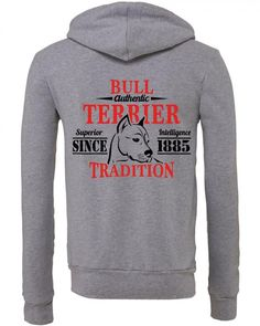 Authentic Bull Terrier Tradition Zipper Hoodie