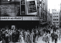 These people are gathering to watch 'No Orchids for Miss Blandish', which was considered controversial at the time. Glasgow, Edinburgh, Blackpool England, Old Pictures, Dublin, Seaside, Britain, United Kingdom, Past