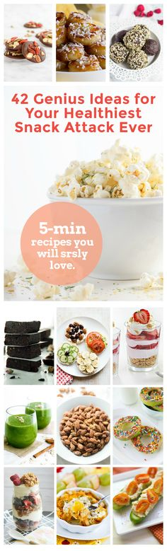 42 Brand new and original snack recipes prepared in under 5 minutes. No processed ingredients! Just healthy ways to enjoy real food. @ilonaspassion