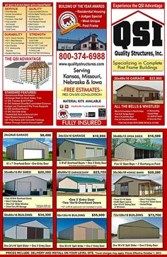 Carter Lumber Pole Barn Kits : carter, lumber, Quality, Structures, Specials, Frame, Building,
