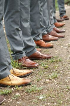 Brown Leather Groomsmen Shoes | Kate Osborne | TheKnot.com