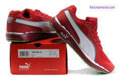 Puma 500 Faas Red White Silver Lime Green Running Shoes 185160 01     #Red  #Womens #Sneakers