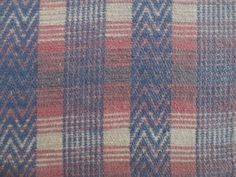 """Vintage.Twin CAMP BLANKET~Cotton~74"""" x 48""""~Soft Roses, Blues & Tans   eBay"""