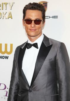 Matthew McConaughey wears Fairmont fit with sun lenses at the 19th Annual Critics Choice Awards