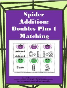 Spider Addition with Doubles Plus 1