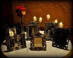 wedding memorial for grandparents Wedding Drink Table, Wedding Reception, Our Wedding, Dream Wedding, Funeral Reception, Wedding Black, Rustic Wedding Centerpieces, Reception Decorations, Bottle Centerpieces