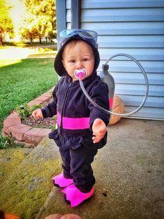 My baby scuba diver! Best baby Halloween costume :)