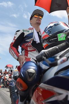 Nicky Hayden Photos Photos - Nicky Hayden of USA and Honda World Superbike team prepares to start on the grid during the Race 2 during the FIM Superbike World Championship - Race at Misano World Circuit on June 19, 2016 in Misano Adriatico, Italy. - FIM Superbike World Championship - Race