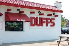 Duff's wings are the best in the Buffalo area. Love this place: very casual, fast service, Labatt's Blue on tap and wings, wings, wings!
