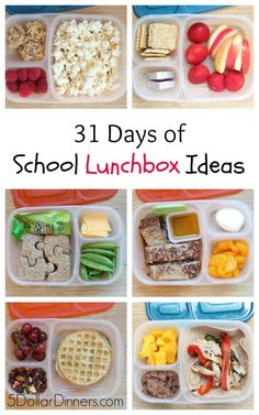 31 Days of School Lunchbox Ideas