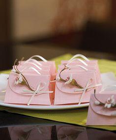 Elegant pink favor boxes
