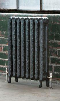 Arroll Art Nouveau Cast Iron Radiators are inspired by Art Nouveau design featuring an elegant yet subtle scrolling pattern