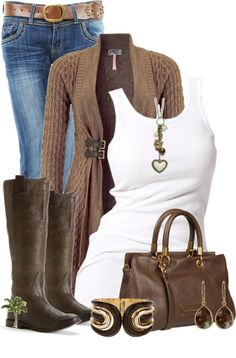 """Boots and Tank"" by cindycook10 on Polyvore"