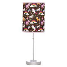unicorn rainbow kids background horse desk lamps