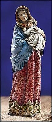 Madonna of the Streets Ornate Brocade Statue Ave Maria collection – Beattitudes Religious Gifts