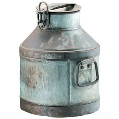 I pinned this Eliza Antiqued Milk Can from the Whitefield Designs event at Joss & Main!