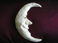 Crescent Moon Sculpture by Spoonies on Etsy, $39.00