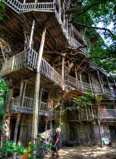worlds largest treehouse just for laughs pinterest largest treehouse and world