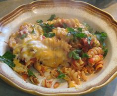 Cheesy Tomato Pasta Bake