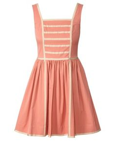 Cotton Blend Sleeveless Dress Solid Pink