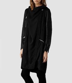 Women's Gion Parka Jacket (Black) - product_image_alt_text_2