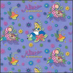 Alicia En El País De Las Maravillas Disney Tela por Tejidosaloloco