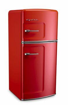 Studio Size Big Chill Retro Refrigerator in Cherry Red