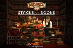 Sims 3 Finds - Stacks of Books at Hey Love